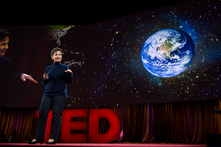 Christiana Figueres speaks on climate change at the TED2016 conference in Vancouver