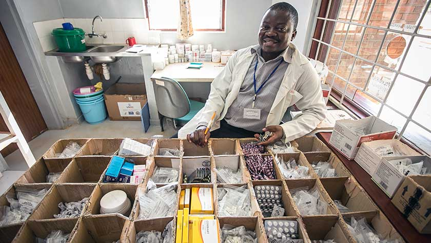 A Pharmacy Assistant in Malawi helps ensure clinicians can spend more time with patients.