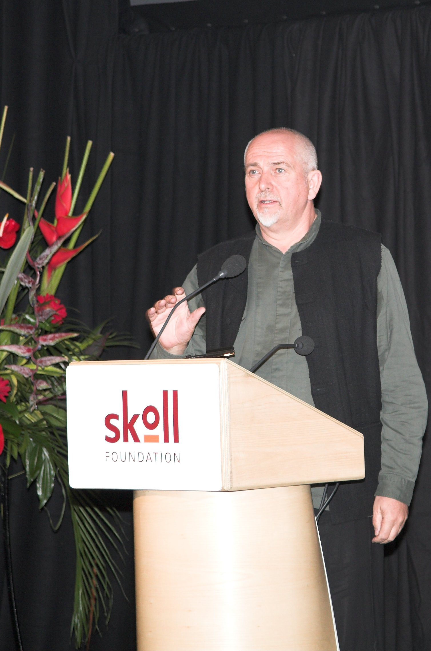 peter gabriel at skoll awards